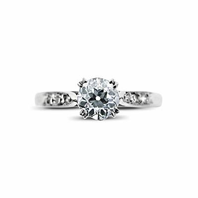 Old Cut Diamond Vintage Engagement Ring 0.52ct